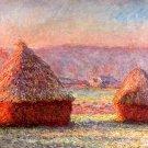 Haystacks Claude Monet Painting Art Vintage 32x24 Print Poster