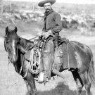 Early America Cowboy Horse Retro BW 32x24 Print Poster