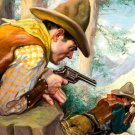 Cowboy Early America Painting Art 32x24 Print Poster