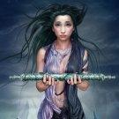 Fantasy Scroll Hot Girl Artwork 32x24 Print Poster