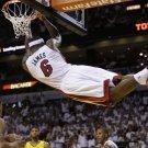 LeBron James Hanging On The Rim Dunk NBA 32x24 Print Poster
