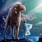 Leo Zodiac Astrological Sign Art 32x24 Print Poster