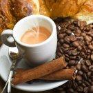 Coffee Cup Cinnamon Food Macro 32x24 Print Poster