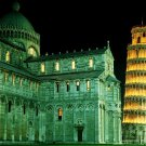 Leaning Tower Pisa Italy Night Lights 32x24 Print Poster