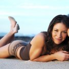 Evangeline Lilly Hot Actrss Beach 32x24 Print Poster