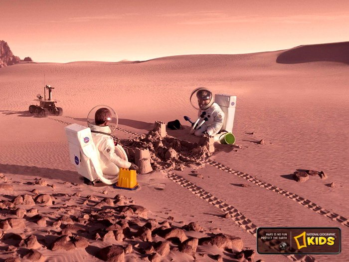 Mars Kids National Geographic 32x24 Print Poster