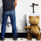 Ted Movie Mark Wahlberg Bear Toilet 32x24 Print Poster