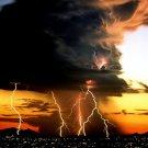 Lightning Storm Landscape Nature 32x24 Print Poster
