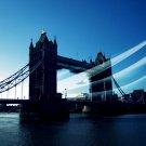 London Tower Bridge UK Wind Cityscape 32x24 Print Poster