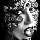 Lady Gaga Hot Portrait Singer Music BW 16x12 Print POSTER