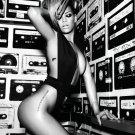Rihanna Fenty Hot Sexy Singer Music BW 16x12 Print POSTER