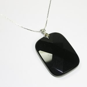 Obsidian Rectangle Pendant