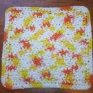 100% Cotton Crochet Dishcloth Creamsicle