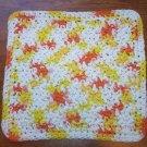 100% Cotton Crochet Dishcloth Creamsicle