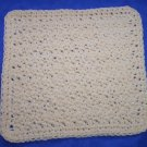 100% Cotton Crochet Dishcloth Ecru