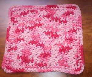 100% Cotton Crochet Dishcloth Florals