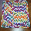100% Cotton Crochet Dishcloth Gumdrop