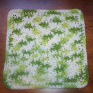 100% Cotton Crochet Dishcloth Key Lime Pie