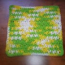 100% Cotton Crochet Dishcloth Lemon Lime