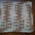 100% Cotton Crochet Dishcloth Natural Ombre