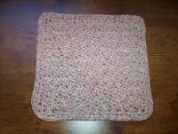 100% Cotton Crochet Dishcloth Neopolitan Twist