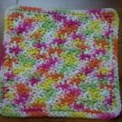 100% Cotton Crochet Dishcloth Over the Rainbow