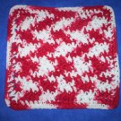100% Cotton Crochet Dishcloth Peppermint