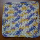 100% Cotton Crochet Dishcloth Violet Veil