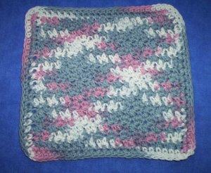 100% Cotton Crochet Dishcloth Winterberry