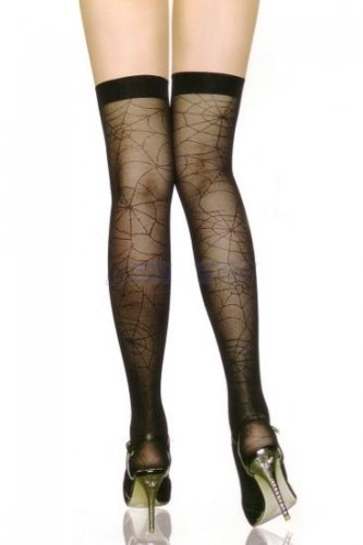 Free Ship-Spider web Stay Up Thigh Pantyhose Legging Sock