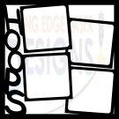 12x12 Photo Basketball Template Scrapbook Overlay