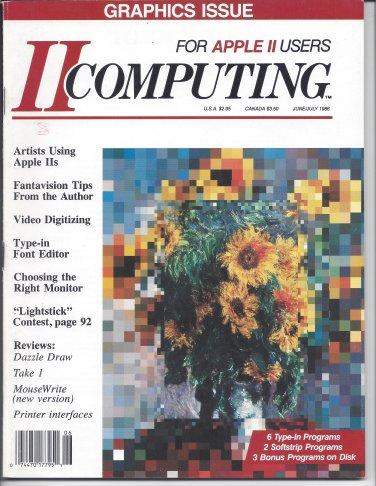 II Computing Magazine, June / July 1986, for Apple II II+ IIe IIc IIgs