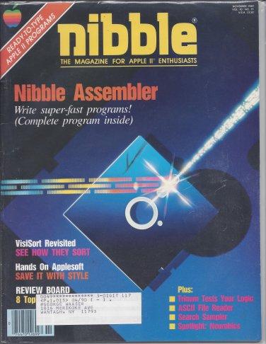 Nibble Magazine, November 1989, Marked, for Apple II II+ IIe IIc IIgs