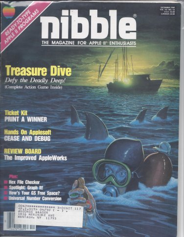 Nibble Magazine, December 1989, for Apple II II+ IIe IIc IIgs