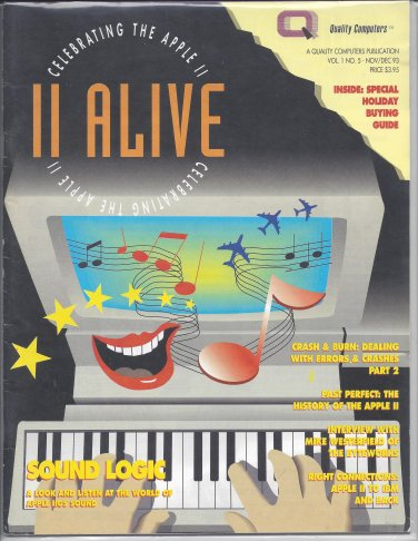 II Alive Magazine, November / December 1993, for Apple II II+ IIe IIc IIgs