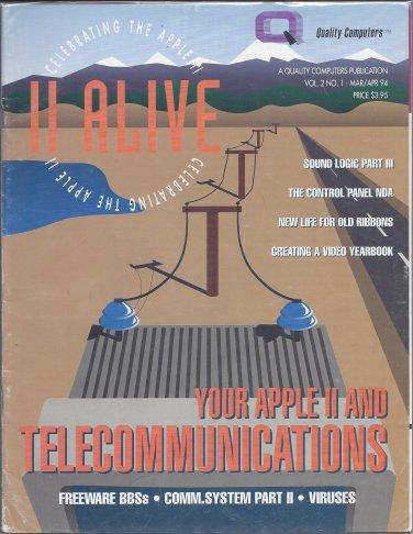 II Alive Magazine, March / April 1994, for Apple II II+ IIe IIc IIgs