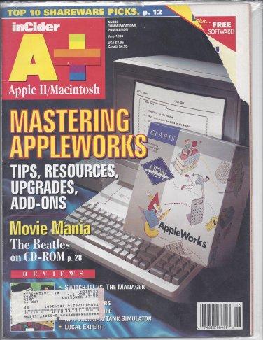 inCider A+ Magazine, June 1993, for Apple II II+ IIe IIc IIgs