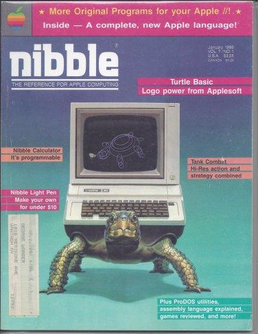 Nibble Magazine, January 1986, Marked, for Apple II II+ IIe IIc IIgs
