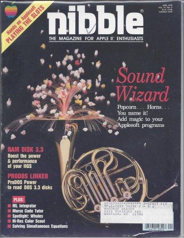 Nibble Magazine, April 1990, Marked, for Apple II II+ IIe IIc IIgs