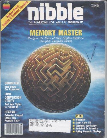 Nibble Magazine, June 1990, for Apple II II+ IIe IIc IIgs
