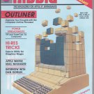 Nibble Magazine, May 1987, Front Cover Damage, for Apple II II+ IIe IIc IIgs
