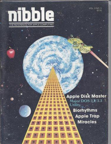 Nibble Magazine, Volume 2 Number 5, for Apple II II+ IIe IIc IIgs