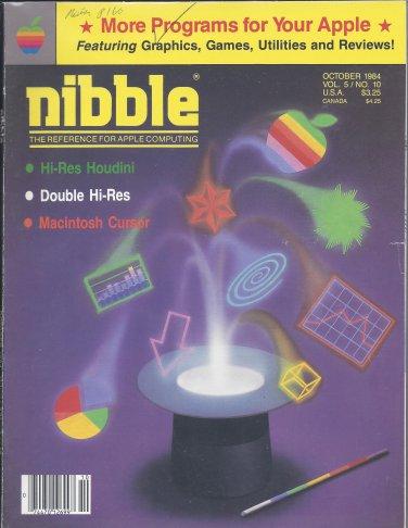 Nibble Magazine, October 1984, for Apple II II+ IIe IIc IIgs