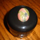 Jasper Agate Stone Black Stash Jar 1/2 OZ container massage oil box