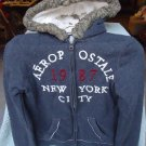 AEROPOSTALE HOODED JACKET IN SIZE S/P---GRAY