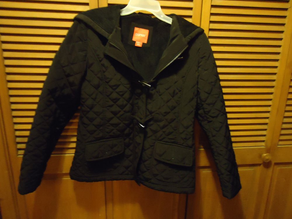 LADIES QUILTED HOODED COAT..ZIP UP & NICE CLOSURES..LINED-SIZE M..NICE BY SPIRIT