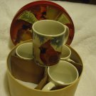 RED BIRD/CARDINAL SET OF 4 NICELY BOXED CUPS.....GREAT GIFT OR FOR COLLECTION