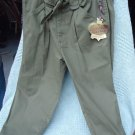 PRINCESS VERA WANG GREEN INFANTRY STYLE SIZE 5 JEANS..NEW WITH TAGS