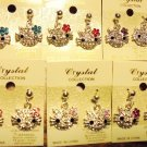 """""""HELLO KITTY"""" RHINESTONE HANGING EARRINGS...CHOOSE BOW COLOR-RED-PINK-PURPLE,ETC"""