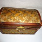 "BEAUTIFUL WOODEN TREASURE CHEST..GREAT FOR KNICKNAKS/STORAGE/FLORAL.5""X7""X4 1/2"""
